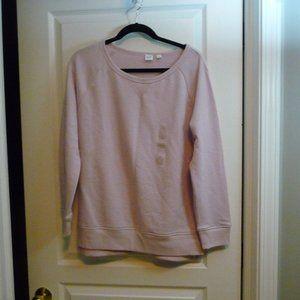 GAP NWT Quartz Pink Crew Neck Sweatshirt Tunic